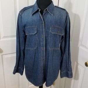 LRL Lauren Jeans Co. Denim Shirt
